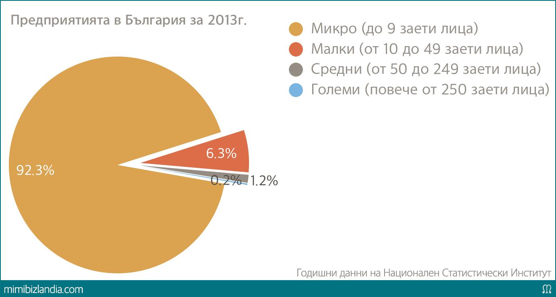 Предприятията в България за 2013г.